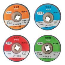 1,5 m Desolder Braid Solder Remover Docht Niedrigen Rückstände Zinn Streifen BGA Reparatur Werkzeug Vermeiden Hohe Temperatur von Elektrische Heizung pad