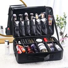 Large-capacity cosmetic bag tattoo nail and makeup portable partition tool box cosmetic bag