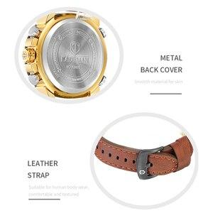 Image 4 - KADEMAN New Watch Men Fashion Sport Quartz Men Watch Top Luxury Brand Date Alarm Leather Strap Waterproof 3ATM Relogio Masculino