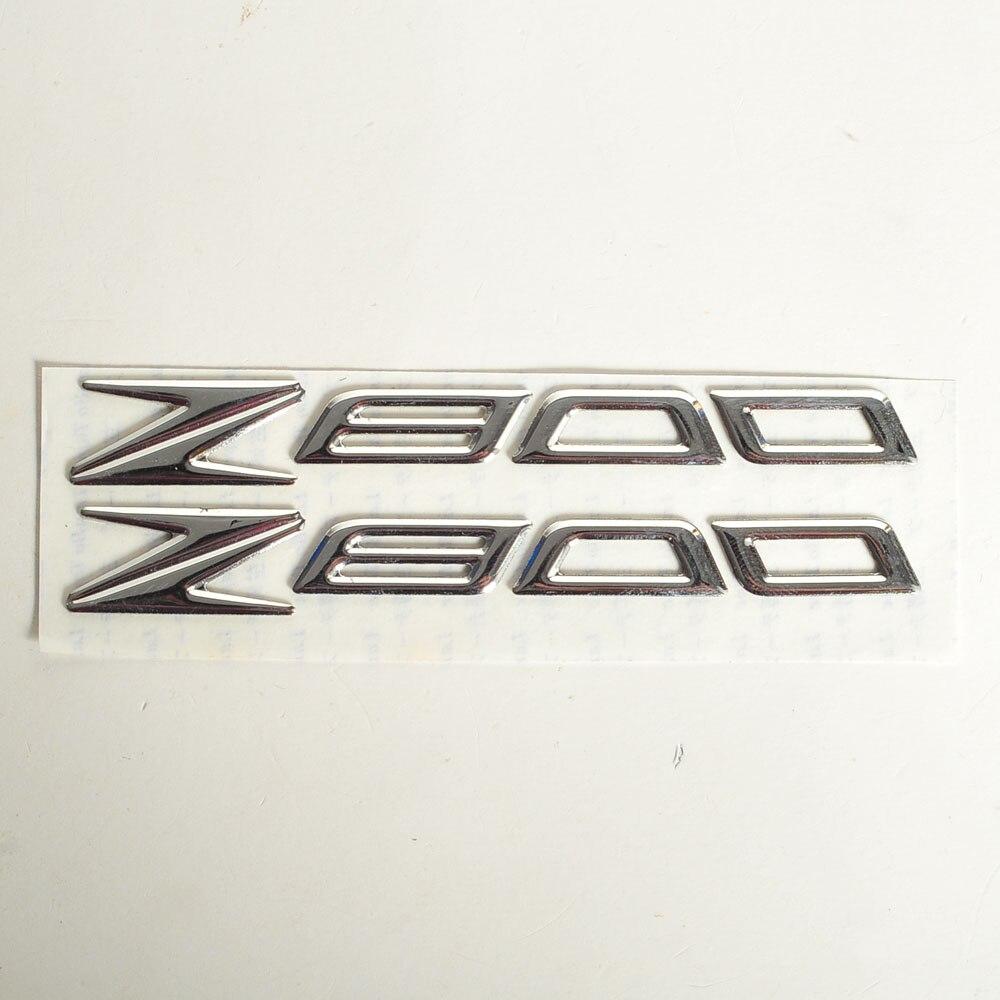 CHROME MOTORCYCLE EMBLEM BADGE DECAL 3D TANK WHEEL LOGO CASE FOR KAWASAKI Z800 STICKER