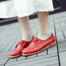 Genuine Leather Cow Women Shoes Loafers Platform Wedges Shoes Woman Apring Autumn New Flats Soft Low-cut Fashion Ladies Casual fashion new casual flats women soft genuine leather shoes autumn spring loafers woman wo1808112