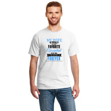 Printed My Wife Is Favorite Accountant T-Shirt Mens Size S-3