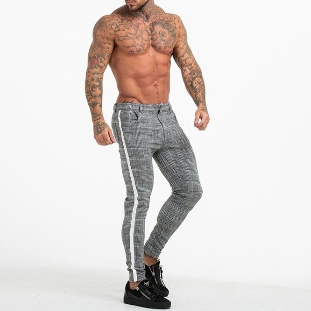 Sweatpants Men Sports Casual Print Bodybuilding Flexible Waist Long Pants Trousers 2019 New Arrival Fitness Pants