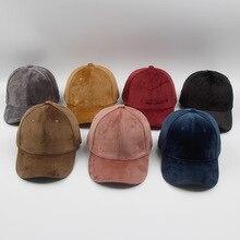 Luxury Brand Cotton Velvet Baseball Caps for Men Women Sport Hats Trucker Cap Dad Hat Winter Outdoor sa 8