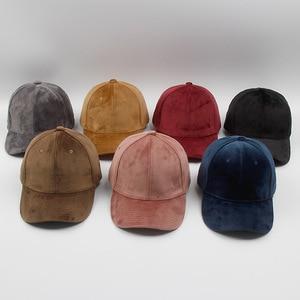 Image 1 - Marca de lujo, gorras de béisbol de terciopelo y algodón para hombres y mujeres, sombreros camionero deportivos, gorra de papá, sombrero de invierno para exteriores, sa 8