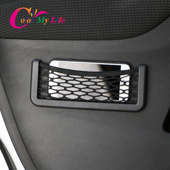 Color My Life 1Pc Car Carrying Bag Net Phone Holder Box Case for Nissan X-trail Xtrail T32 Rogue 2014 - 2020 Accessories image