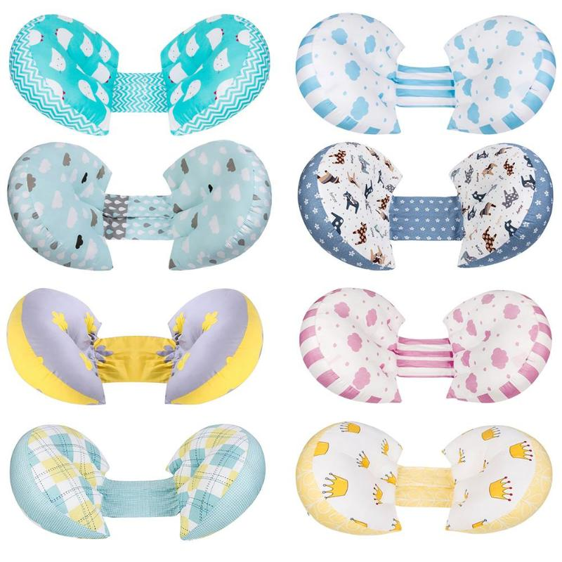 U Shape Maternity Pillow Baby Breastfeeding Cotton Multi-function Butterfly Shape Waist Nursing Pregnant Cotton Pillow