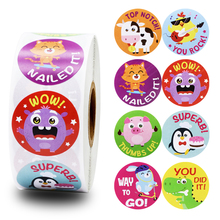 8 cute animal cartoon stickers 500pcs school teacher reward student children toys collection scrapbook sticker