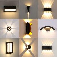 IP65 LED Wand Lampe Garten Leuchten Außenwand Licht Innen Moderne Mode Leuchte Schlafzimmer Wohnzimmer Treppe Terrasse