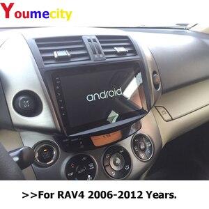 Image 2 - Youmecity reproductor Multimedia con Gps para coche, Radio, vídeo, DVD, 2Din, Android 10,0, para Toyota RAV4 Rav 4 2007 2008 2009 2010 2011 2012