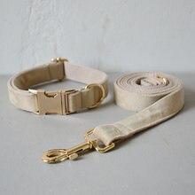Тканевый поводок для ошейника собаки с бесплатной гравировкой