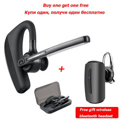 K10 Wireless Business Bluetooth Earphone Stereo Handsfree Bluetooth Headphone Smart phone Headset  + Box