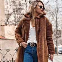 Get more info on the Elegant Faux Fur Coat Maternity Clothes Winter Warm Soft Zipper Fur Jacket Female Plush Overcoat Pocket Casual Teddy Outwear
