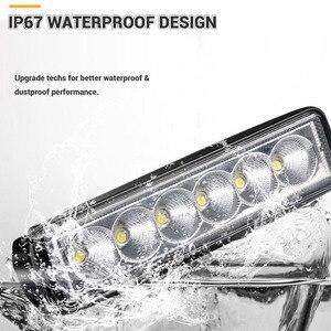 Image 5 - Luz LED de trabajo DRL para todoterreno foco reflector de luz diurna de 6 pulgadas, 18W, 12V, 24V, para Jeep 4x4, ATV, 4WD, SUV, estilismo para coche