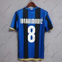IBRAHIMOUIC 2008 2009 Retro soccer jersey camisa de time football jerseys camisetas de fútbol camiseta futbol maillot de foot