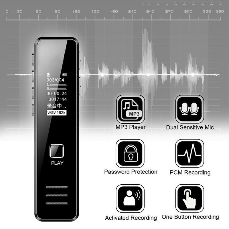 Digital Mini Voice Sound Recorder Activated Handheld Audio Recording Pen DJA99