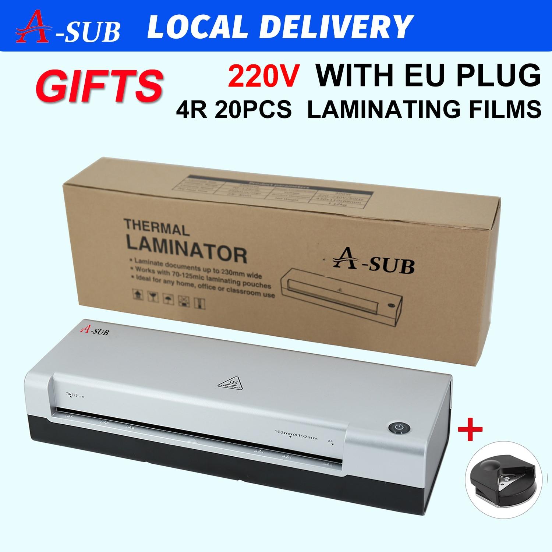 Laminator A4, maszyna do laminowania 2 System rolkowy do użytku w domu, biurze lub szkole, nadaje się do użytku ze zdjęciami