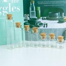 Стеклянные флаконы с пробкой для ювелирных изделий 24 шт 10