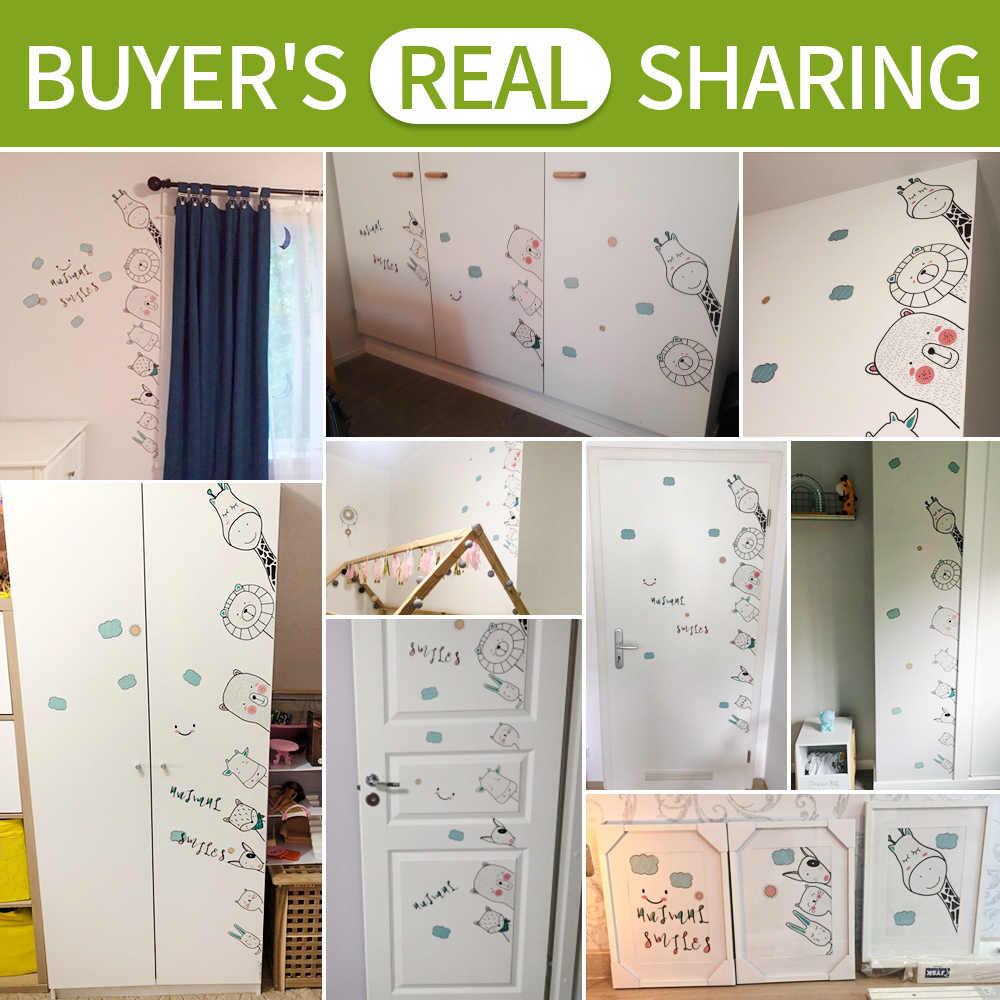 غرفة نوم ملصقات الباب حجر الزاوية الطفل الجدار ملصق للأطفال غرفة جدار الزينة غرفة المعيشة اكسسوارات المنزل