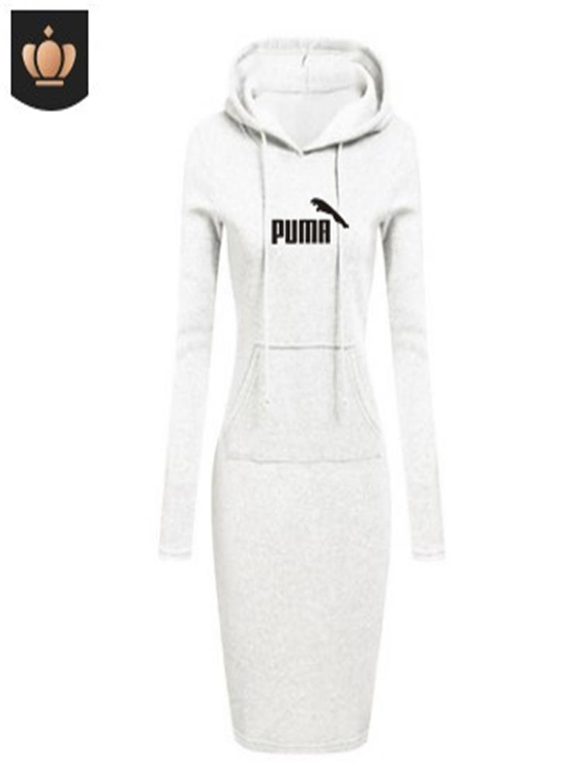 High Quality 2021 New Hot Sale Fashion Women's Casual Style Hooded Hoodie Long Sleeve Sweater Pocket Bodycon Tunic Dress Top