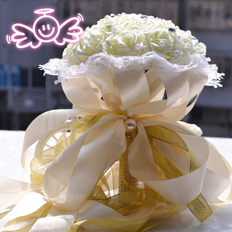 White Wedding Flowers Bridal Bouquets Accessories Bouquet Supplies Artificial Buque De Noiva Pink Bride Flower Bouquet