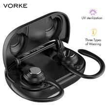 Vorke T15 TWS Earphone Wireless Bluetooth5.0 Earbuds IPX5 UV Smart Touch HIFI St