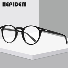 HEPIDEM Acetate Opticalกรอบแว่นตาชายRetro VINTAGE Prescriptionแว่นตาNerdผู้หญิงแว่นตาสายตาสั้นแว่นตา 9108