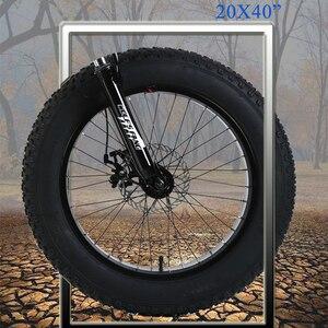 """Image 3 - Горный велосипед 21 скорость 2,0X4,0 """"дорожный велосипед жира велосипед спереди и сзади механические дисковые тормоза Для женщин и детские велосипеды"""