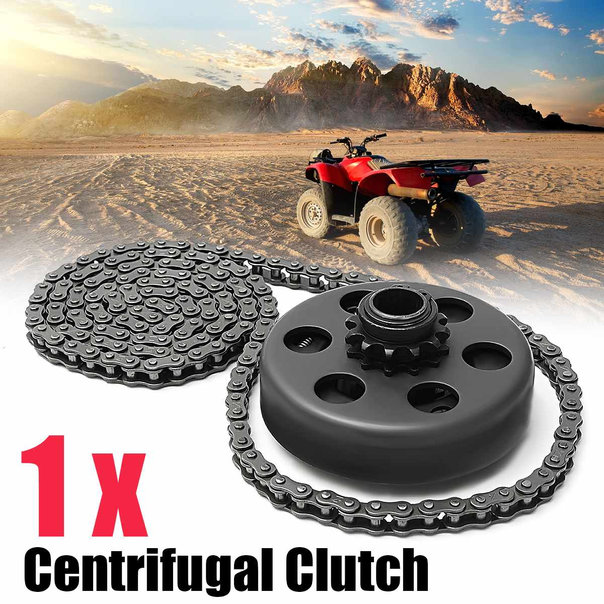 "Hot New For Minibike Go Kart 3/4"" Bore Centrifugal Automatic Clutch 12 Tooth 35 Chain Screw Sets"