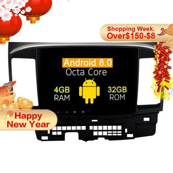 Android 8.0 car dvd Radio player For Mitsubishi Lancer 2007-2017 gps navigation car multimedia stereo head unit with 8 core 4+32 image