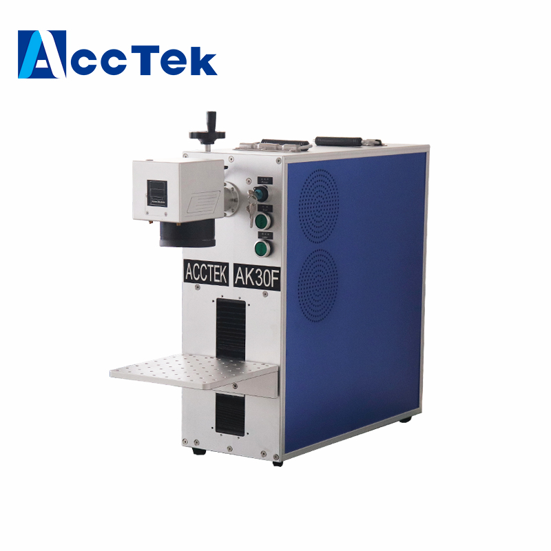 Fiber Laser Pen Printing Marking Etching Machine On Metal Fiber Metal Engraver 30W Raycus Laser Source