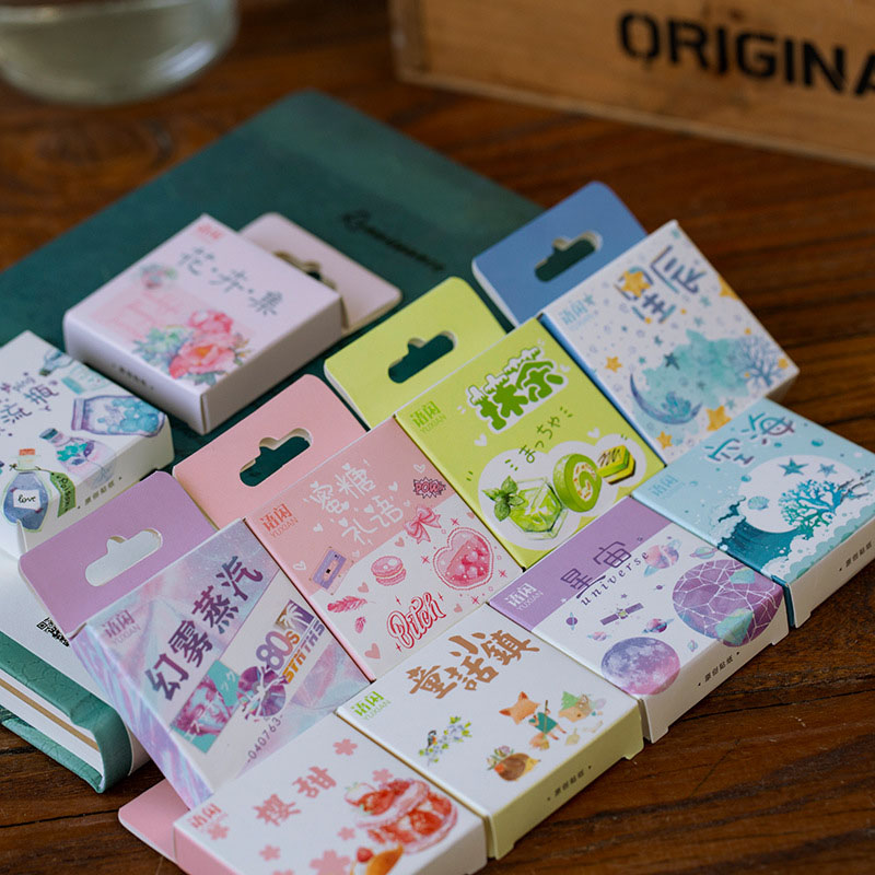 50Pcs/Box Kawaii Unicorn Sticker Cute Stationery Stickers Bullet Journal Stickers For Kids DIY Diary Scrapbooking Decor Supplies