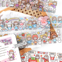 Outfit-Tape 12pcs/Lot Stationery-Sticker Decoration Dream-Series Shared DIY Creative