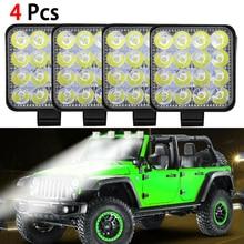 SUHU 4Pcs 48W 16LED Work Light Flood Beam Bar Car SUV ATV Off-Road Driving Fog Lamps 1000LM 6000K Wrok Light Led Bar Accessories