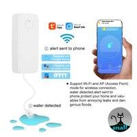 Wi fi sensor de vazamento água nível vazamento alarme tanque detector proteção transbordamento segurança tuya vida inteligente app casa controle remoto