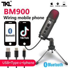 TKL-micrófono USB BM900 para ordenador, dispositivo para grabación en vivo, con Bluetooth, transmisión en vivo de podcast, YouTube, grabación de PC