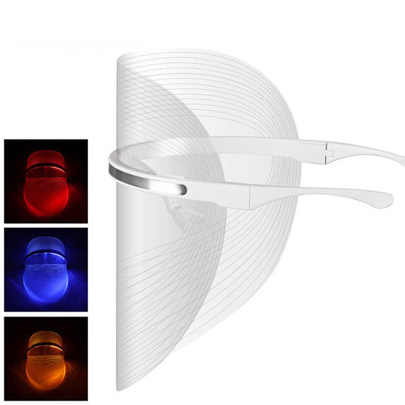 ĐÈN LED 3 màu Làm Đẹp Thiết Bị Chống Mụn Xóa Nếp Nhăn Liệu Pháp Ánh Sáng Mặt Nạ Đắp Mặt Trị Liệu Da Mặt Hiệu Quả Điều Trị Công Cụ Thu Nhỏ Lỗ Chân Lông