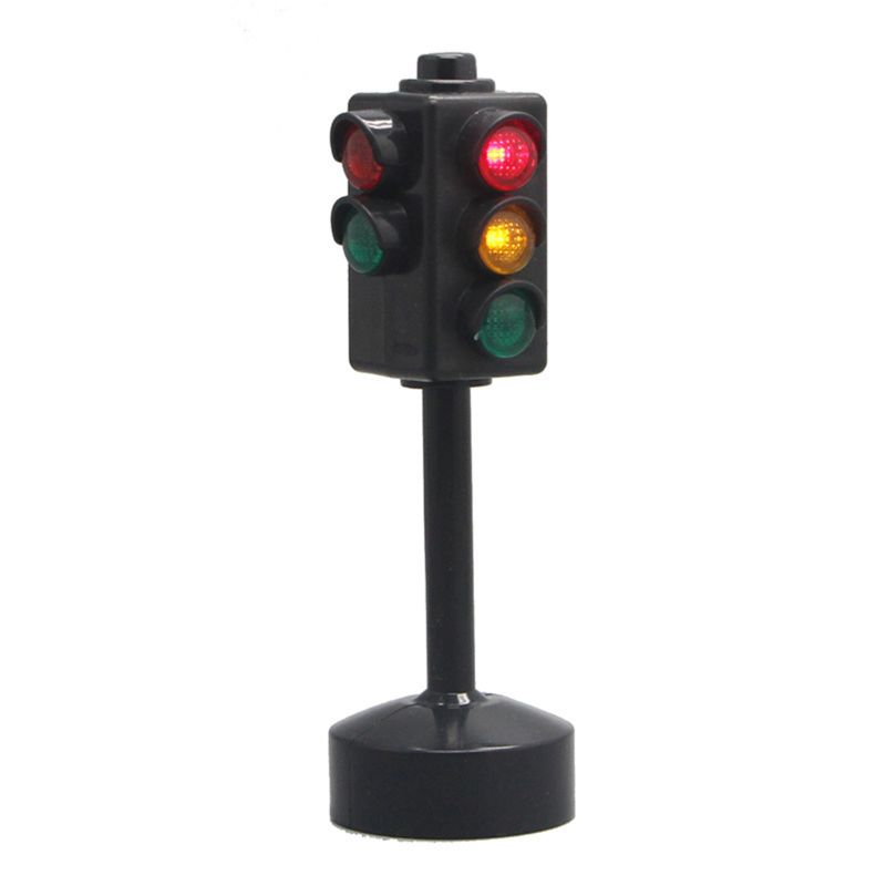 New Traffic Light Puzzle Toy 11.5cm Traffic Signs With Musica And Light Motor Vehicle Signal Light Safety Early Education Toys