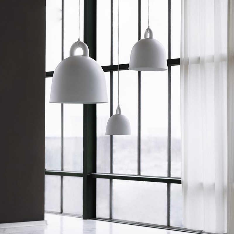 Современный простой стиль в форме колокольчика Droplight Бар Кафе спальня ресторан черный/белый/серый/песочный белый светильник смола кулон ручной работы свет