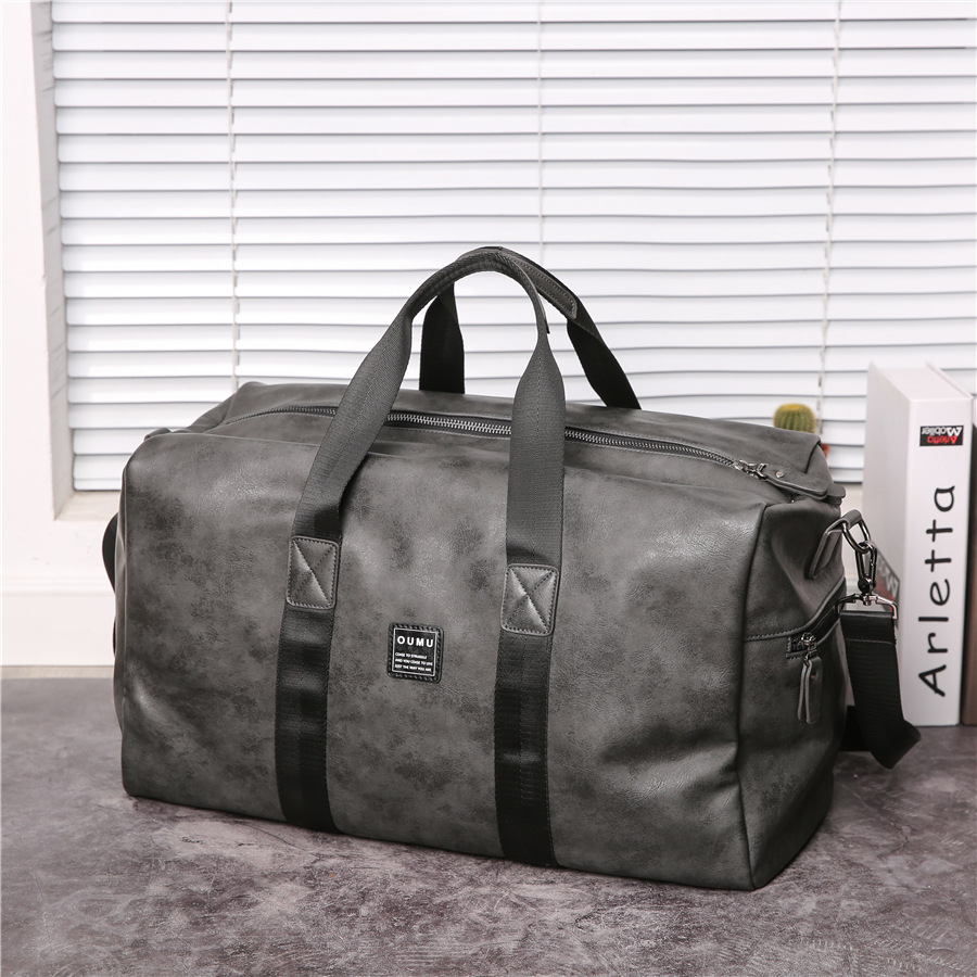 Travelling Bag For Men Travelling Bag With Large Capacity Travelling Bag For Short Business Trip Cross-body Leather Gym