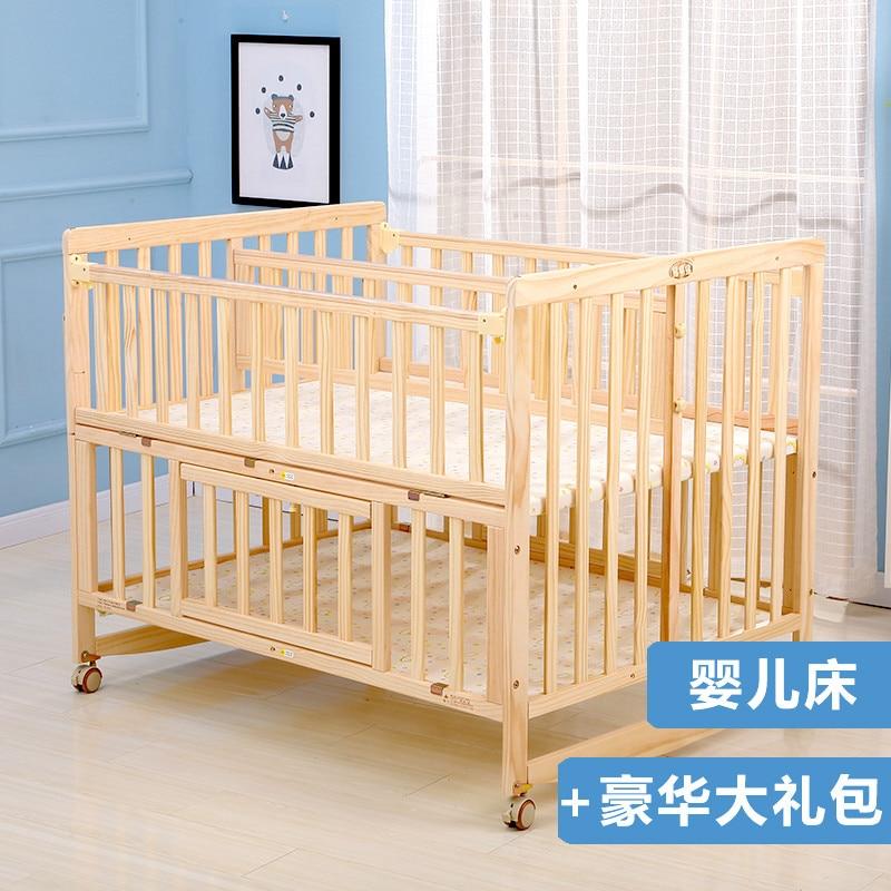Купить двойная кроватка из цельной древесины лакированная двойная кровать