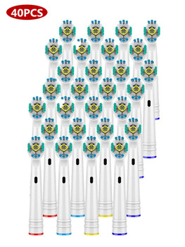 Fast Shipping 40 Pcs/set Replacement Brush Heads for Oral Hygiene B Electric Toothbrush Fit Advance Power/3D/ Precision Clean 12 pcs electric toothbrush heads for oral b replacement hygiene precision clean deep sweep soft tooth brush for adults