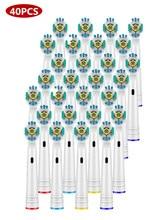 Têtes de brosses de rechange pour hygiène bucco dentaire, brosse à dents électrique adaptée à lavance, 3D/précision, livraison rapide, 40 pièces/ensemble