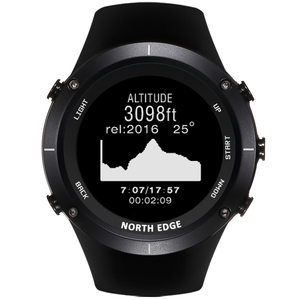Image 3 - NORTHEDGE digital watches Men sports watch clock GPS Weather Altitude Barometer Compass Heart Rate Waterproof Dive hiking hours