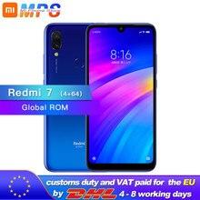 Globale ROM Xiaomi Redmi 7 64GB 4GB Snapdragon 632 Octa Core handy 4000mAh 12MP Kamera 1520x720 6,26 Full screen