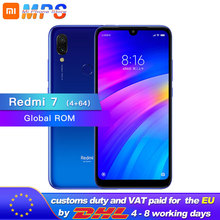 הגלובלי ROM Xiaomi Redmi 7 64GB 4GB Snapdragon 632 אוקטה Core טלפון נייד 4000mAh 12MP מצלמה 1520x720 6.26 מלא מסך