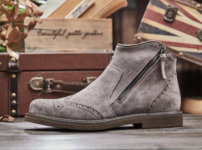 tornozelo cinza estilo britânico botas segurança trabalho