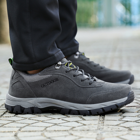 PUPUDA men casual shoes Autumn Winter new sneakers men hiking shoes Classic outdoor non-slip sport shoes big size 12.5 fashion Multan