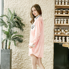 New product spinning silk sexy lady nightdress summer silks sleepwear women home service S089