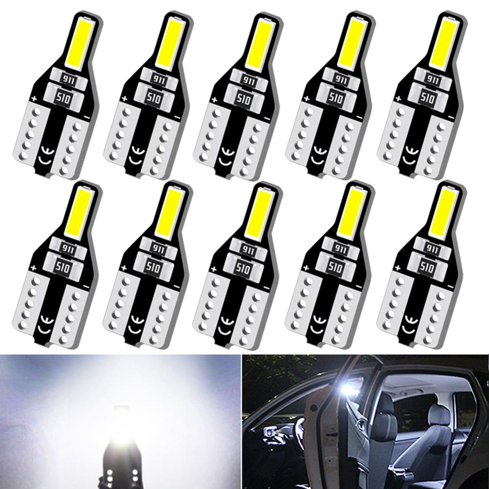 10pcs T10 W5W 168 Auto <font><b>LED</b></font> Bulbs 12V Car Interior Reading <font><b>Light</b></font> For Volkswagen <font><b>VW</b></font> Golf 4 6 Passat B5 B7 B6 B8 MK6 MK3 MK7 <font><b>T5</b></font> T6 image